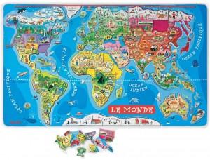 Cartes - Planisphère puzzle - Photographie
